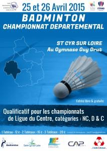 Affiche Championnat dep 2015