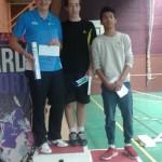 Yohan et son partenaire champions