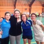4 championnes du tournoi de Chambray : Théa, Steph, Laétitia et Coralie